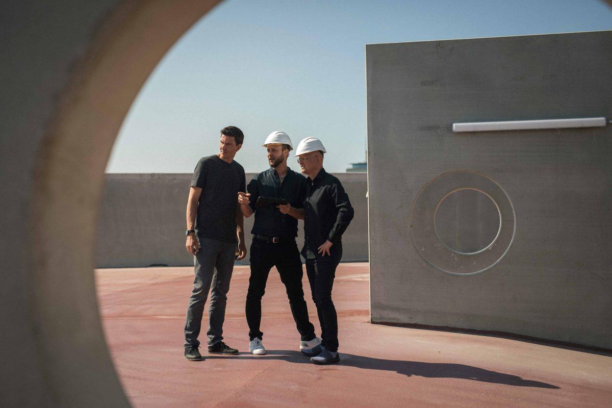 Markus, Stefan und Matthias vom Team der Bermüller+Niemeyer Architekturwerkstatt.