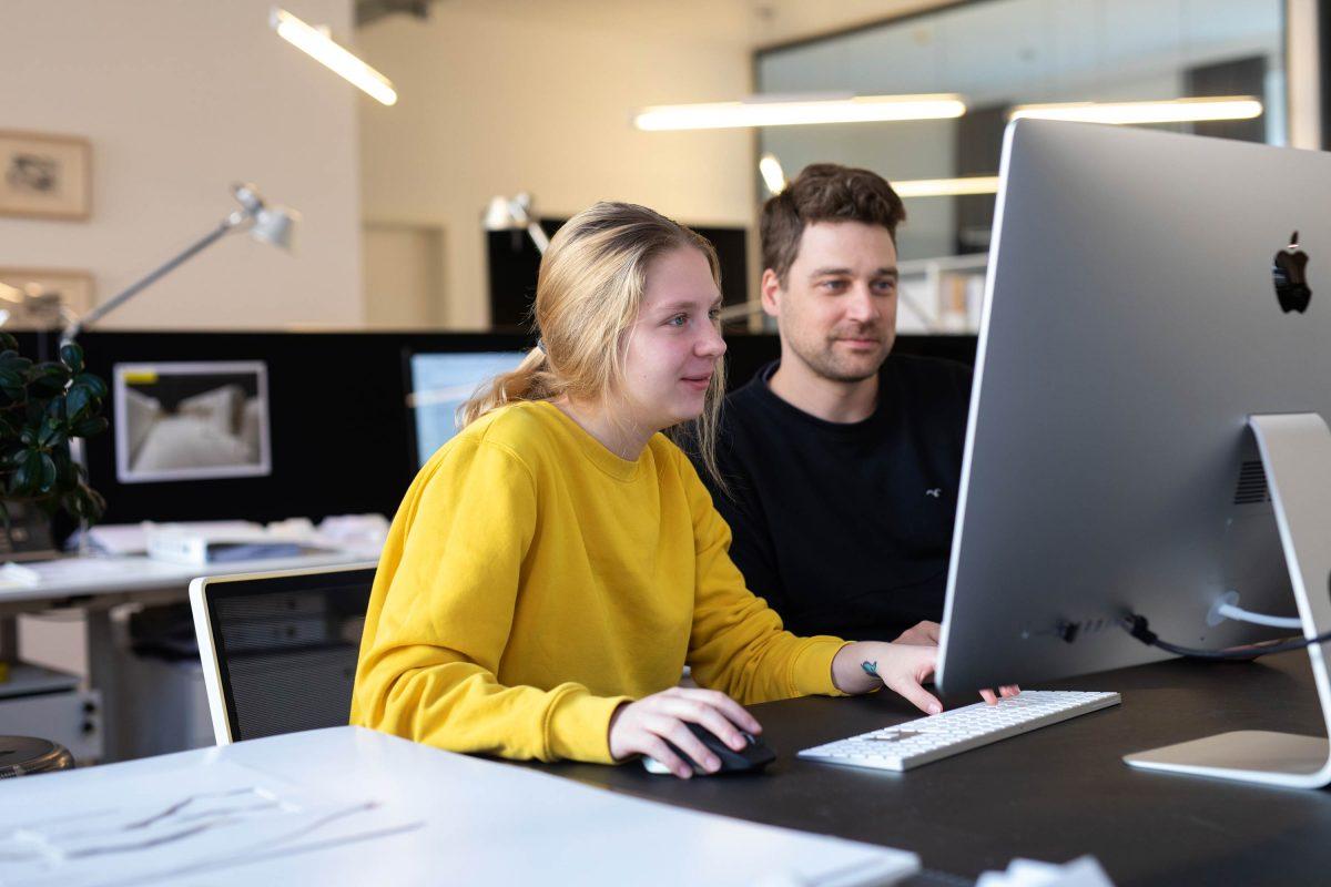 Tassio und Iola aus dem Team der Bermüller+Niemeyer Architekturwerkstatt.