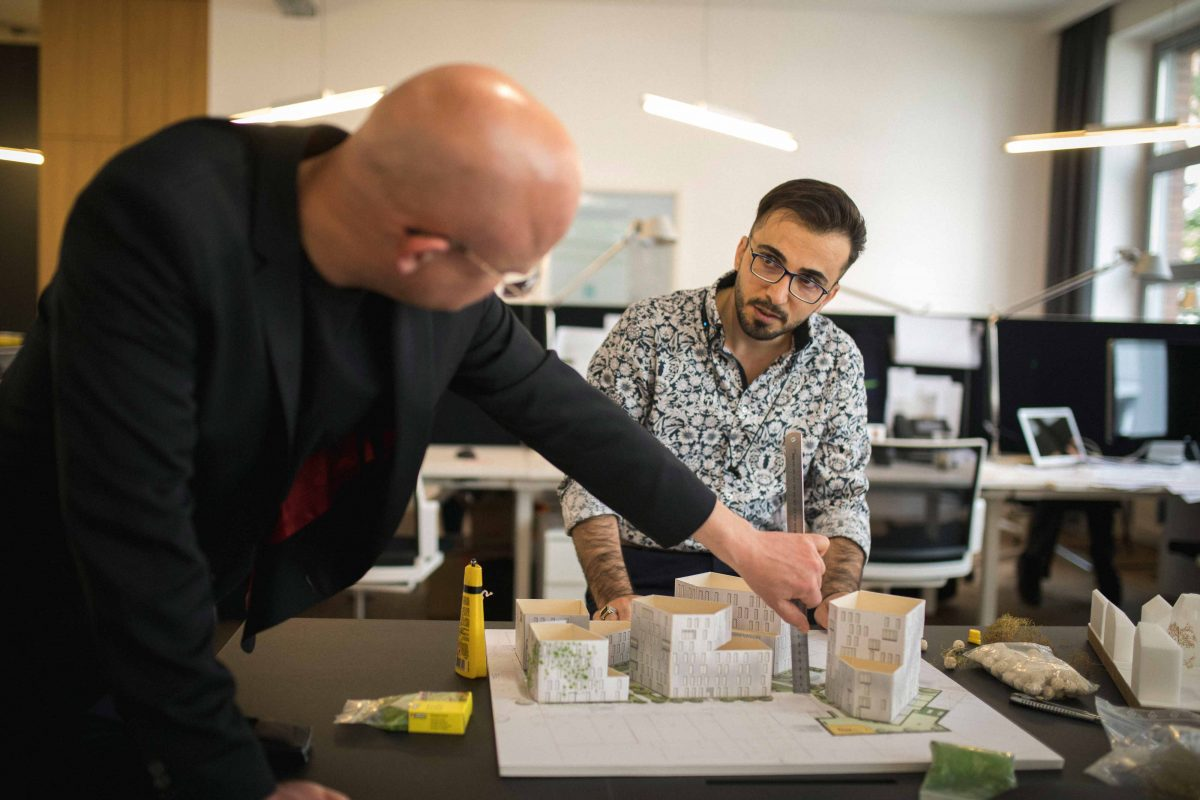 Mehdi und Matthias vom Team der Bermüller+Niemeyer Architekturwerkstatt.