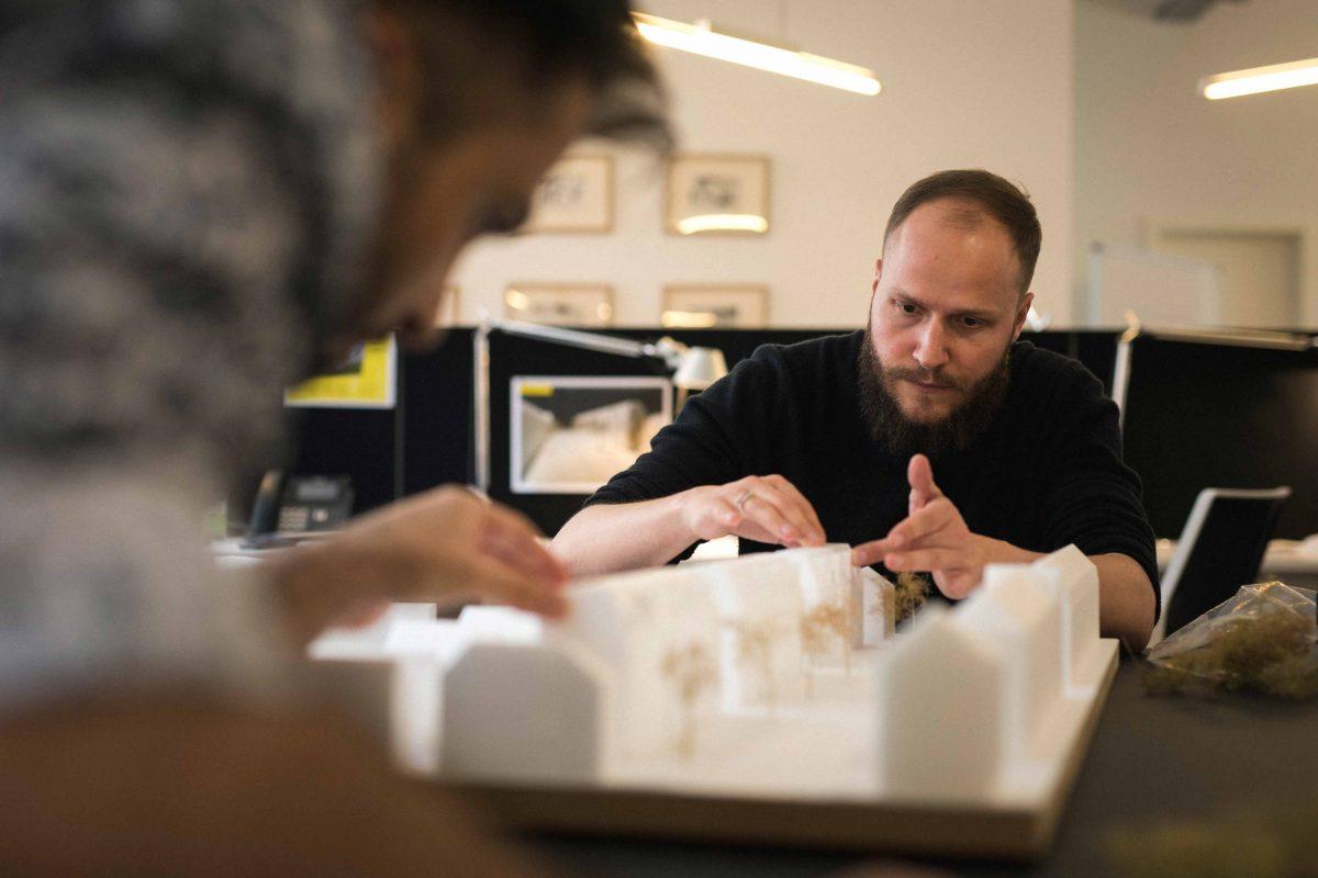 Mehdi und Michel vom Team der Bermüller+Niemeyer Architekturwerkstatt.