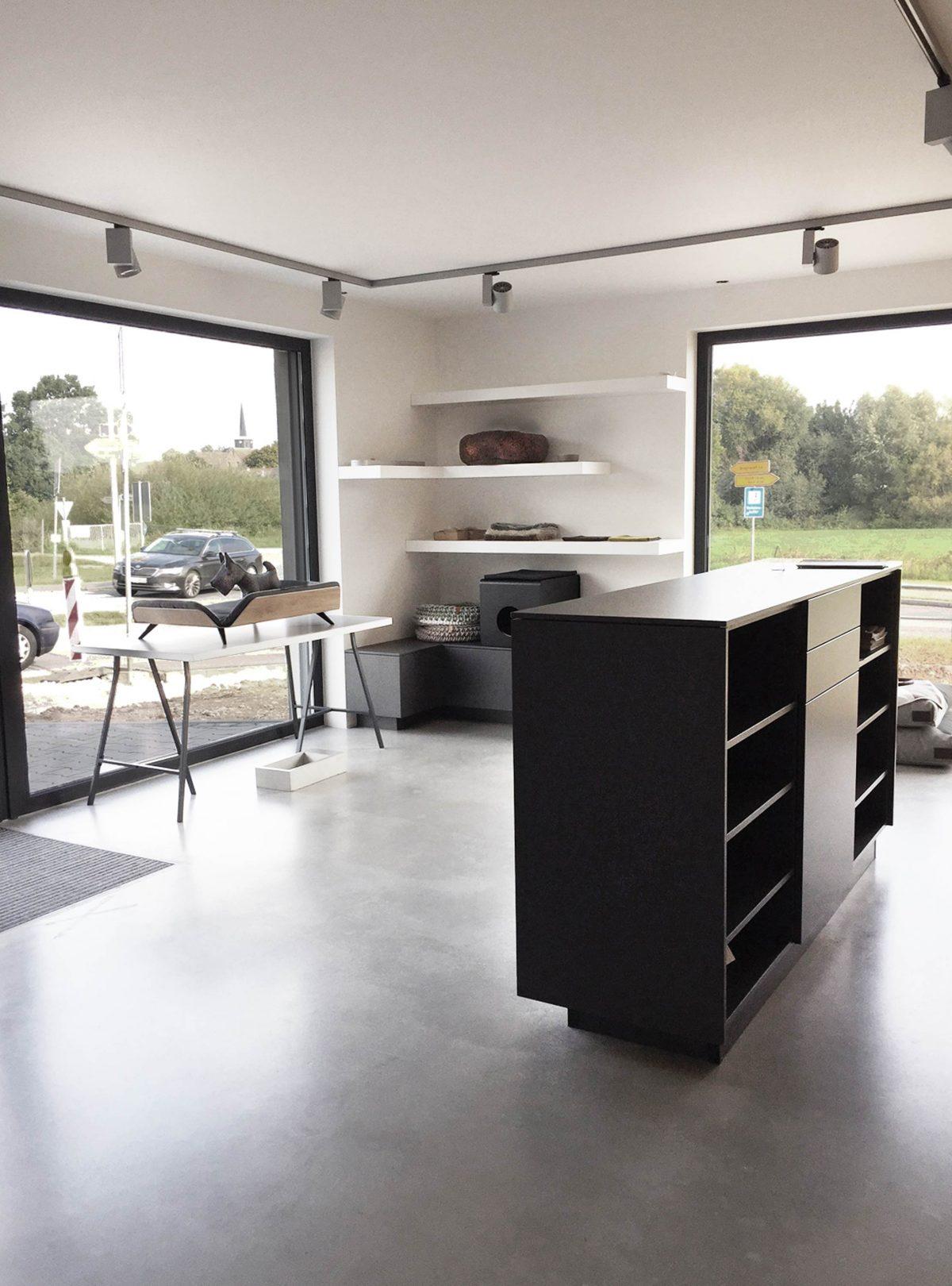 Showroom von Mia Cara gestaltet von Bermüller+Niemeyer Architekturwerkstatt.