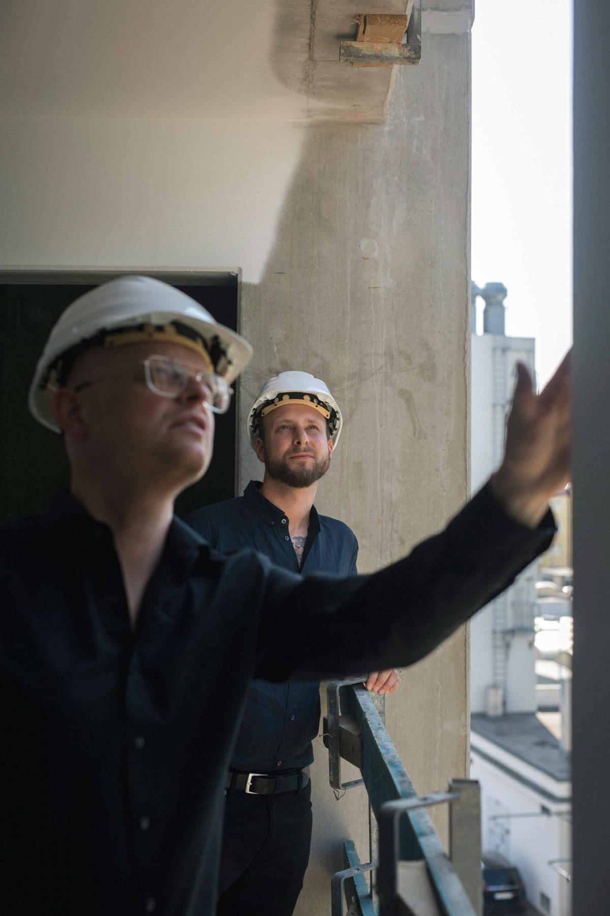 Stefan und Matthias vom Team der Bermüller+Niemeyer Architekturwerkstatt.