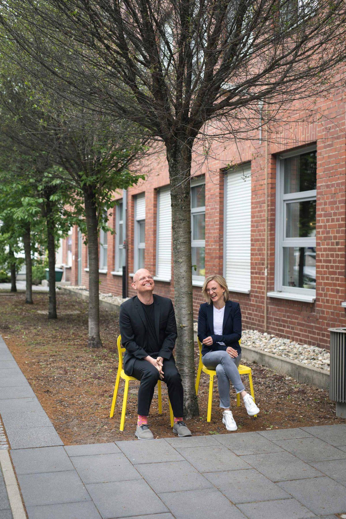 Matthias und Sophie vom Team der Bermüller+Niemeyer Architekturwerkstatt.