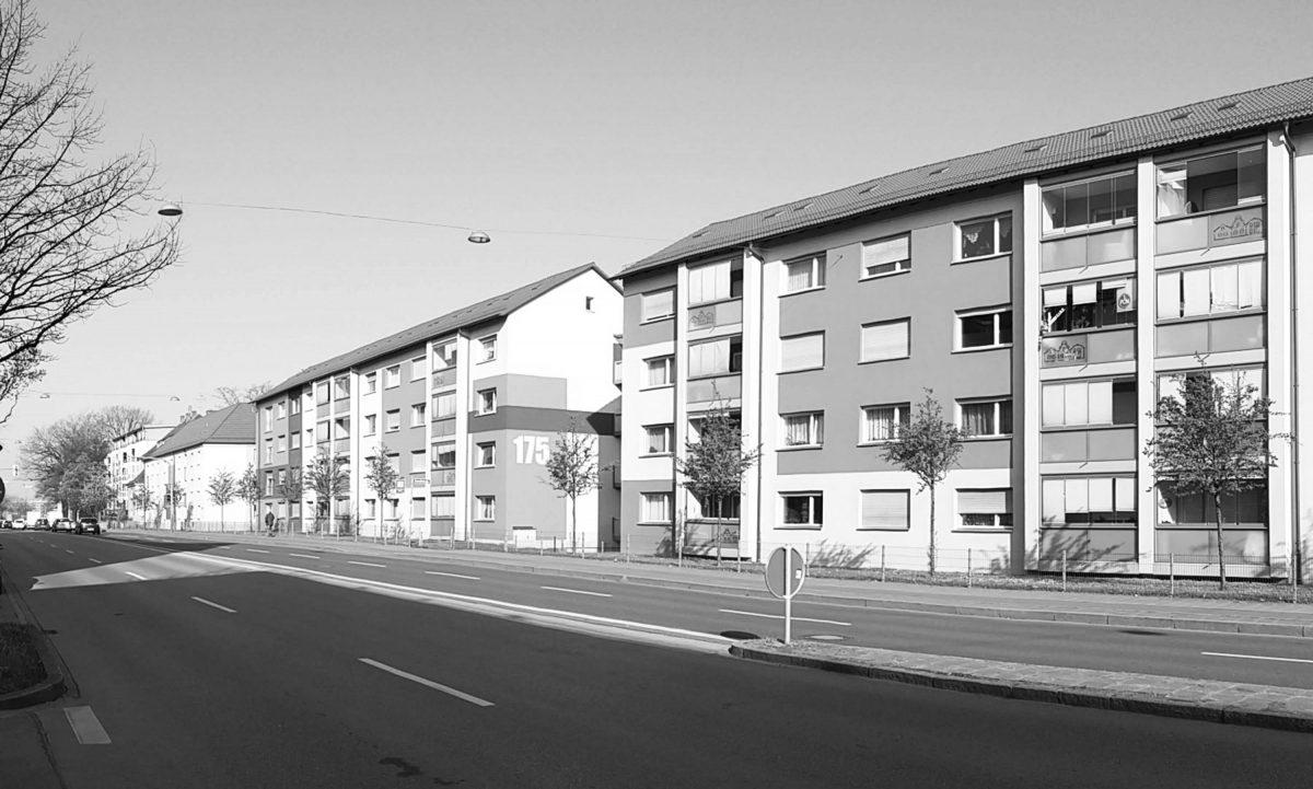 Bild vom Bestand der Mehrfamilienhäuser in der Frankenstrasse in Nürnberg.