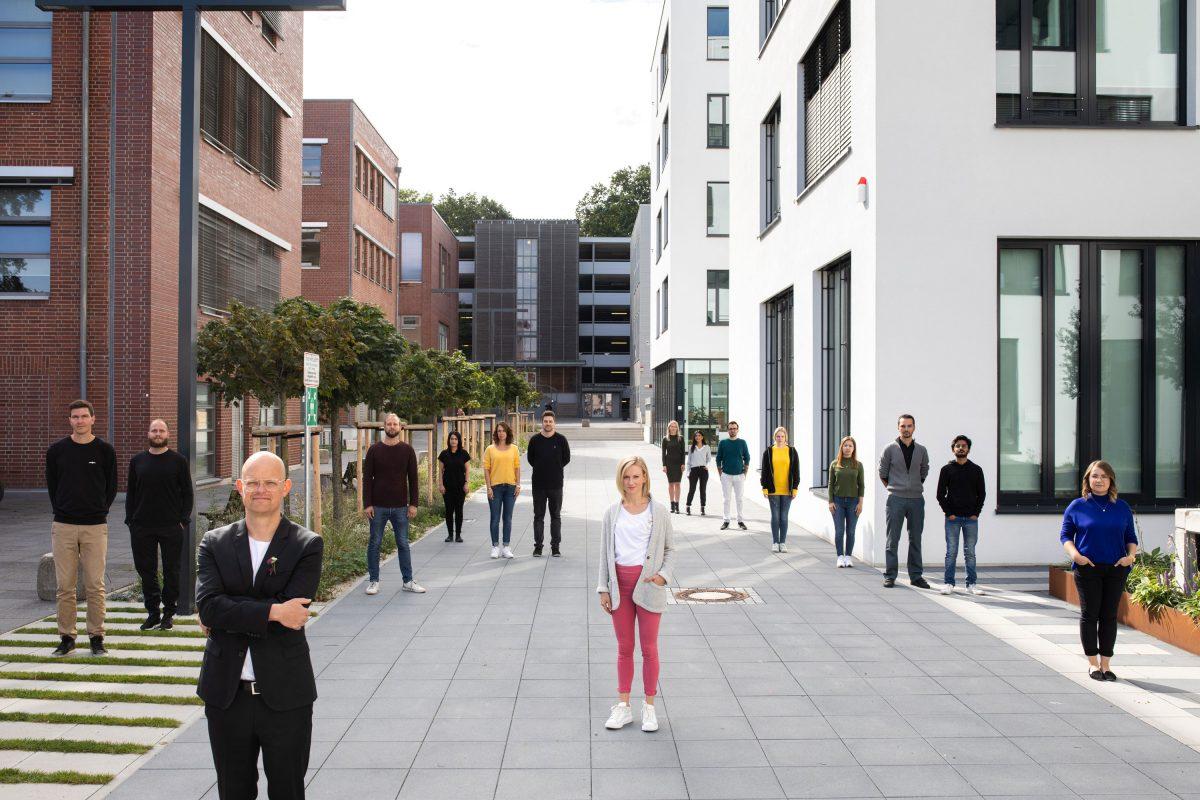 Das komplette Team der Bermüller+Niemeyer Architekturwerkstatt in Nürnberg.