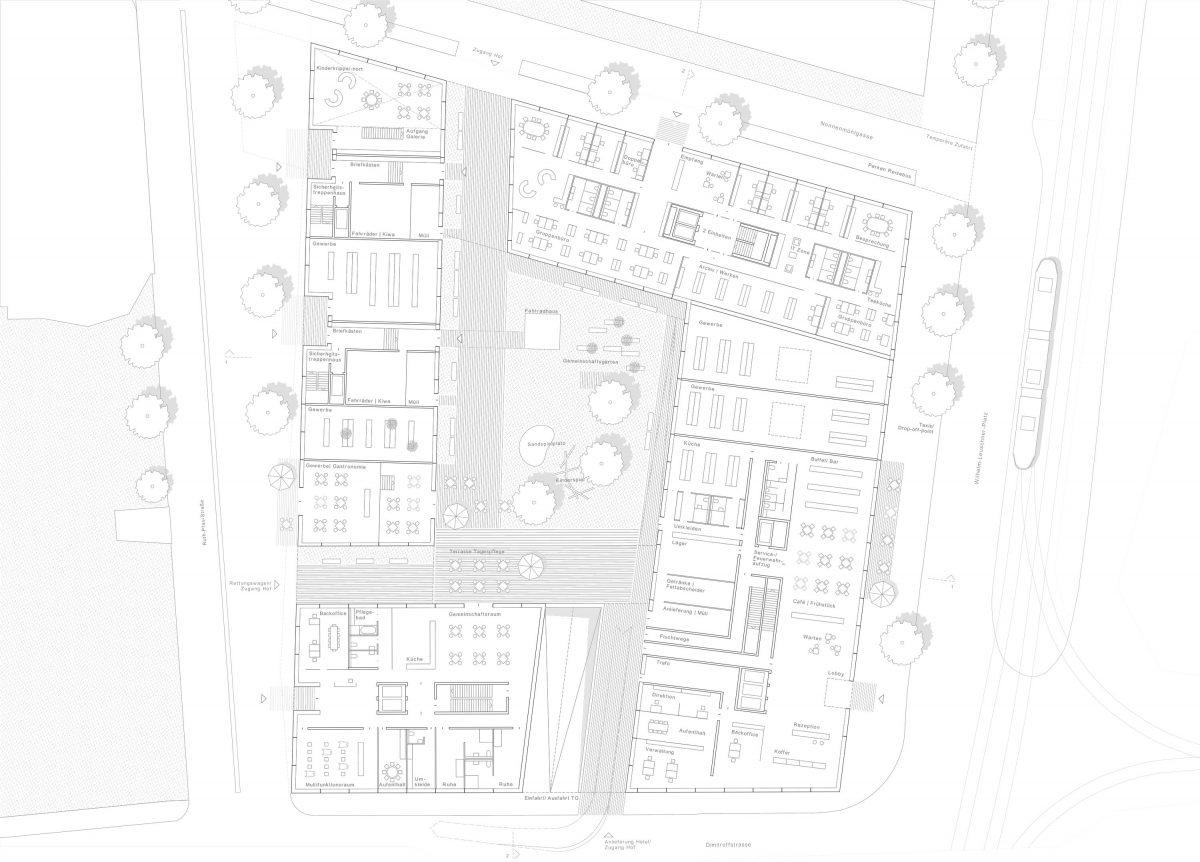 Die Bermüller+Niemeyer Architekturwerkstatt freut sich über die Anerkennung beim Wettbewerb am Wilhelm-Leuschner-Platz in Leipzig.